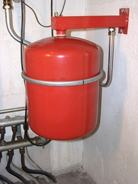 Expansion tank in central heating system