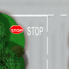 Stop lines and road markings